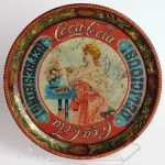 1897 Coca-Cola Victorian Girl Tray