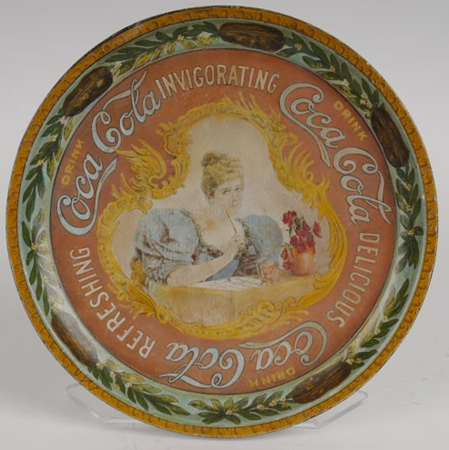 1899 Coca-Cola Hilda with Pen Tray