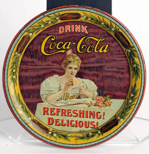 1900 Coca-Cola Hilda With Glass Change Tray