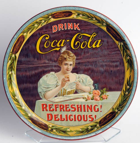 1900 Coca-Cola Hilda with Glass Serving Tray