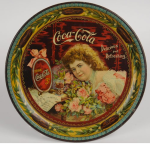 1901 Coca-Cola Hilda with Roses Change Tray