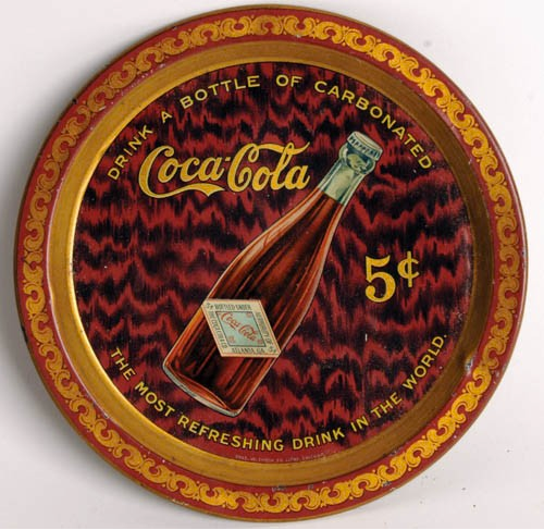 1903 Coca-Cola Bottle Change Tray