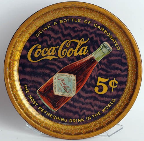 1903 Coca-Cola Bottle Serving Tray