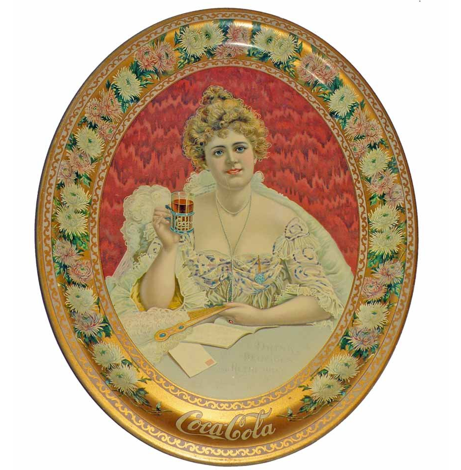 1903 Coca-Cola Hilda Oval Tray
