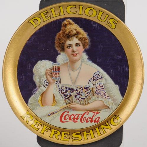 1903 Coca-Cola Hilda Round Change Tray