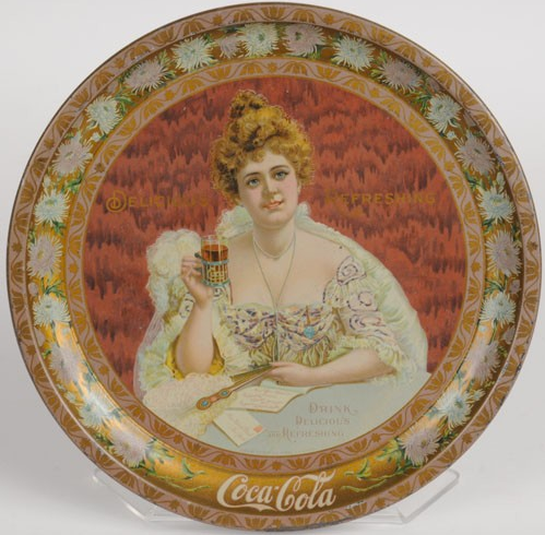 1903 Coca-Cola Hilda Round Serving Tray