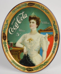 1904 Coca-Cola Lillian Nordica with Glass Tray