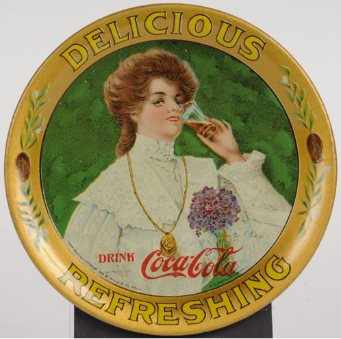 1906 Coca-Cola Juanita Change Tray