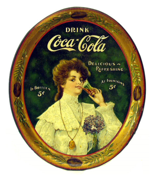 1906 Coca-Cola Juanita Serving Tray