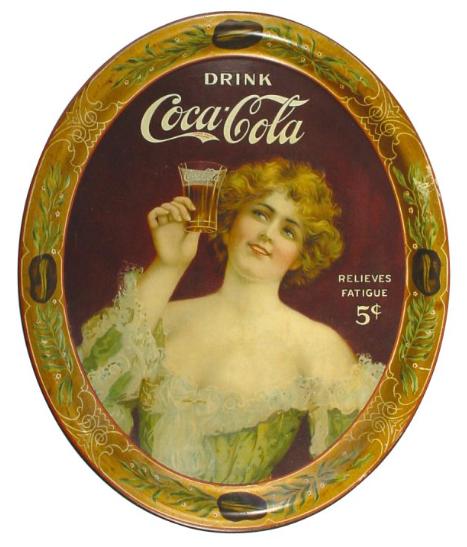 1907 Coca-Cola Relieves Fatigue Serving Tray