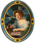 1909 Coca-Cola Exhibition Girl Serving Tray