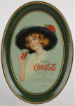 1913 Coca-Cola Hamilton King Girl Change Tray
