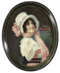 1914 Coca-Cola Betty Oval Serving Tray