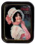1914 Coca-Cola Betty Rectangular Serving Tray