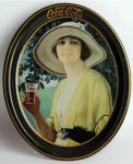 1920 Coca-Cola Golfer Girl Oval Serving Tray