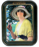 1920 Coca-Cola Golfer Girl Rectangular Serving Tray