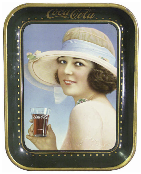 1921 Coca-Cola Summer Girl Tray