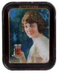 1924 Coca-Cola Smiling Girl Tray