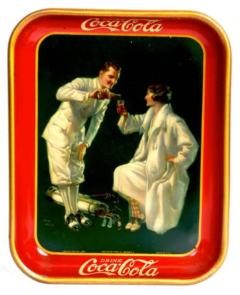 1926 Coca-Cola Golfers Tray
