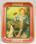 1931 Coca-Cola Barefoot Boy Tray