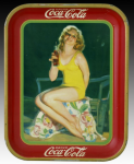 1932 Coca-Cola Girl in Bathing Suit Tray
