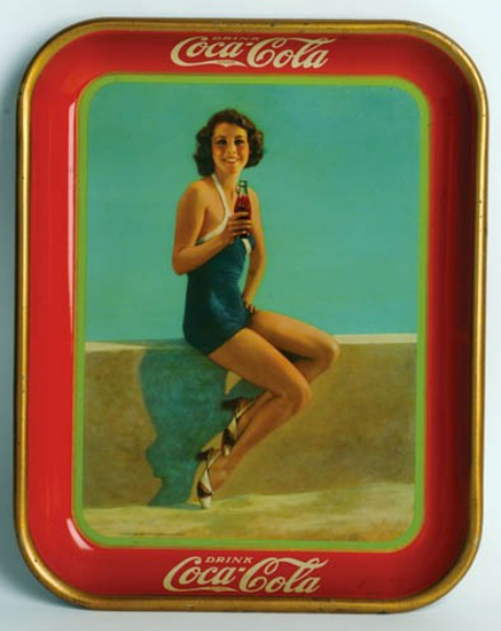 1933 Coca-Cola Frances Dee Tray