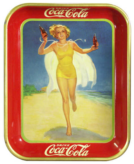 1937 Coca-Cola Running Girl Tray