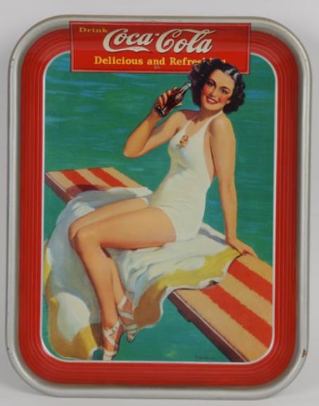 1939 Coca-Cola Springboard Girl Tray