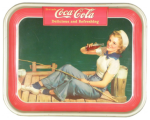 1940 Coca-Cola Sailor Girl Tray