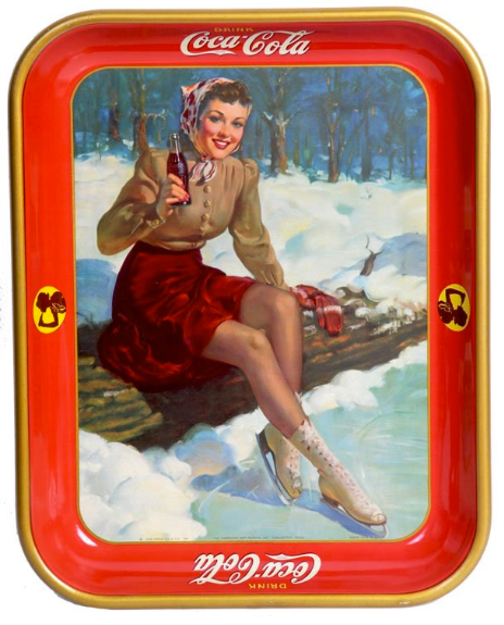 1941 Coca-Cola Skater Girl Tray