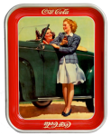 1942 Coca-Cola Two Girls with a Car Tray
