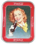 1948 Coca-Cola Girl with Red Hair Tray