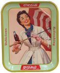 1957 Coca-Cola Girl with Umbrella Tray
