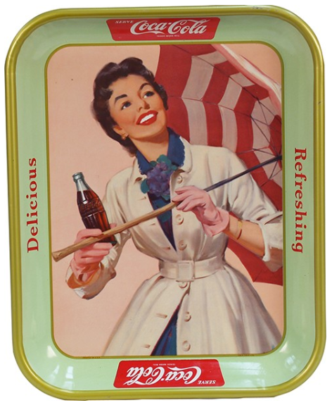 1957 Coca-Cola Girl with Umbrella Tray