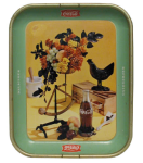 1957 Coca-Cola Rooster Still Life Tray